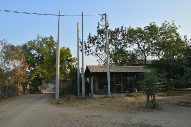 Power Lines of a Village Micro Grid, near Bagan